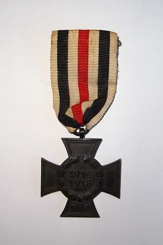 Hindenburg Cross without swords