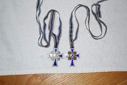 Ehrenkreuz der Deutschen mutter silber/bronze, horner cross