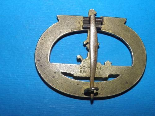 Is this an original U-Boots Kriegsabzeichen?