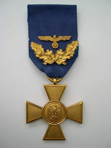 Dienstauszeichnung der Wehrmacht 1.Klasse - 25 Jahre.