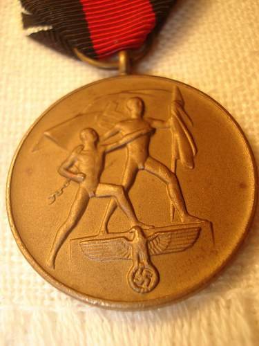 Schutzwall  and The Sudetenland  Medal