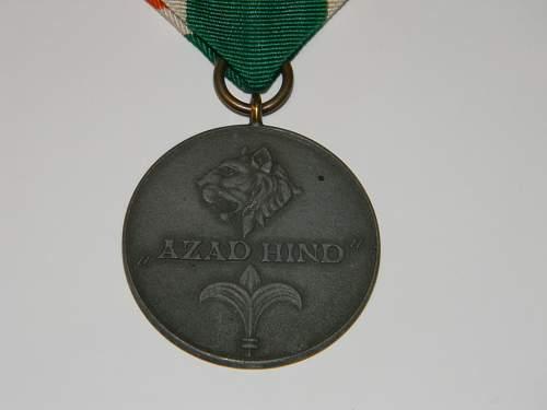 Azad Hindi medaille, gold?