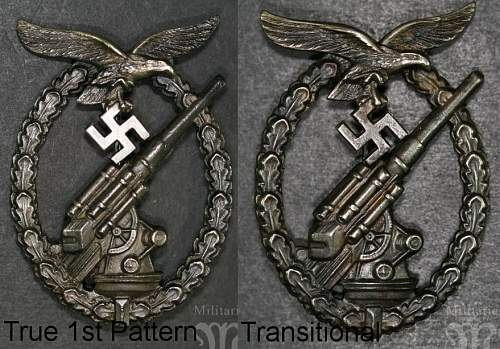 Flakkampfabzeichen der Luftwaffe - Juncker.