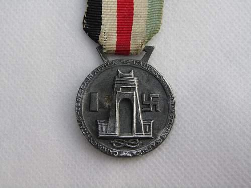Medaille fur den Italienisch-Deutschen Feldzug in Afrika