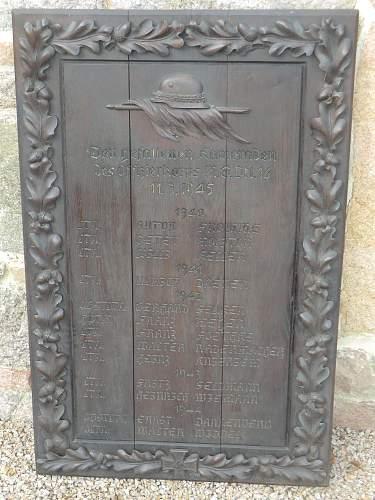 MG Battalion 16 Honor board.