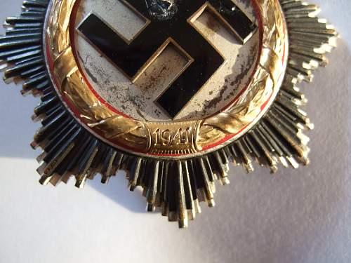 My first Deutsches Kreuz in gold