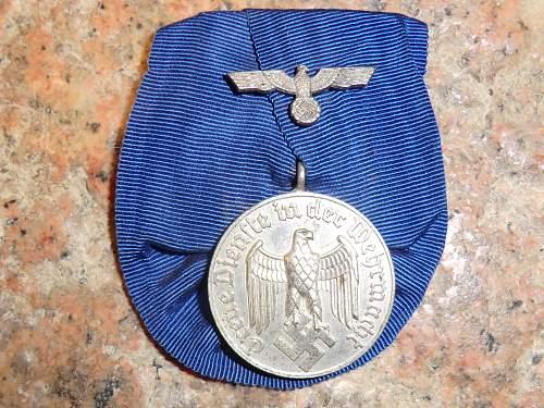 Dienstauszeichnung der Wehrmacht 4 & 8 Jahre.