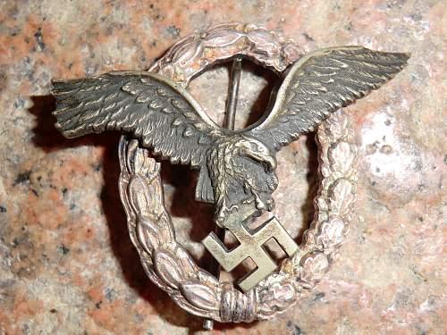 Flugzeugfuhrer badge