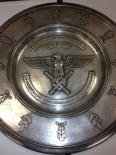 Lufftwaffe Silver Honor Plate......