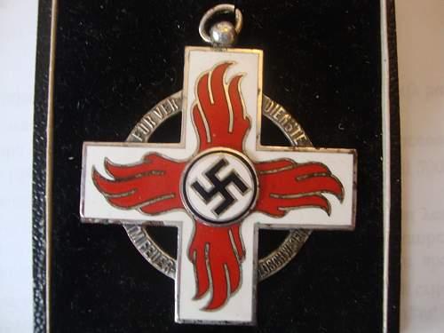 Cased Reichsfeuerwehr-ehrenzeichen 2.Stufe