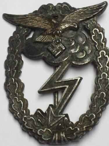 Erdkampfabzeichen der Luftwaffe for review