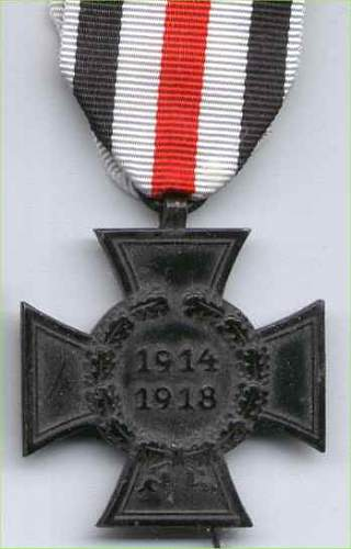 WWI Next of Kin Honor Cross