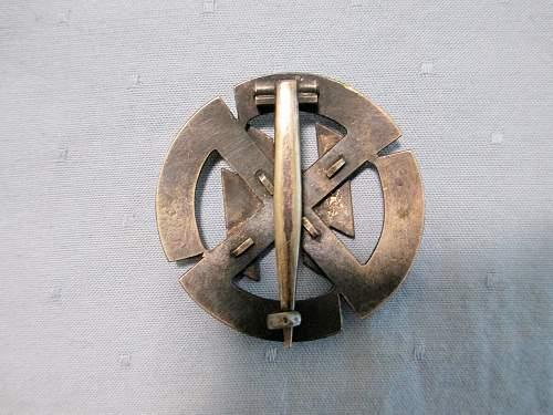 Germanische Leistungsrune in Silber