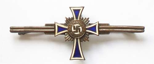 Ehrenkreuz der Deutsche Mutter broach