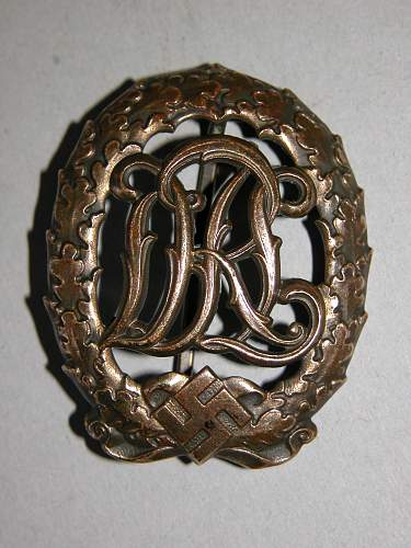 Seeking information DRL sports badge