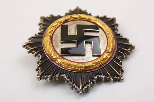 """Deutsches Kreuz in Gold """"20"""" Zimmermann, light edition"""