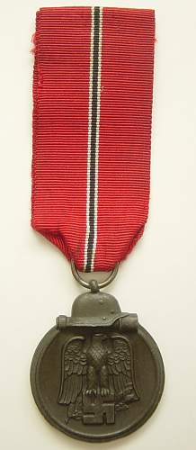 Click image for larger version.  Name:Eastern Front medal..jpg Views:191 Size:142.7 KB ID:35586