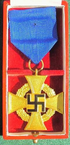 40 Year Treuedienst-Ehrenzeichen