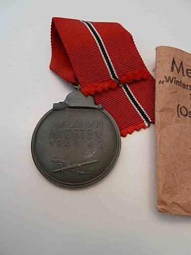 3 Medals Winterschlacht -  Dienstauszeichnung Medaille 12 Jahre - Unknow