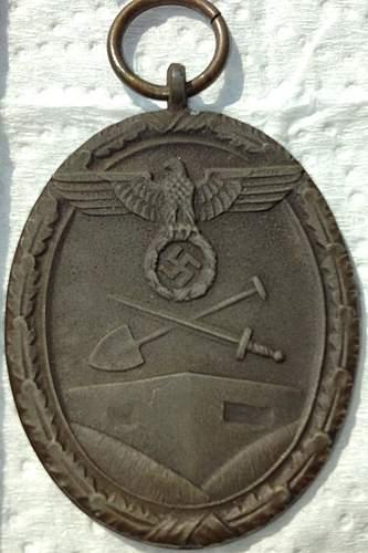 Thoughts on Deutsches Schutzwall-Ehrenzeichen - West Wall Medal