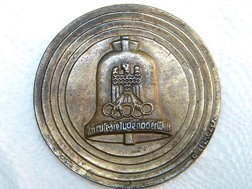 1936 Olympics Bronze Table Medal