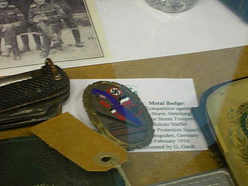 local museum medal display
