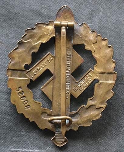 My SA Sportabzeichen in bronze