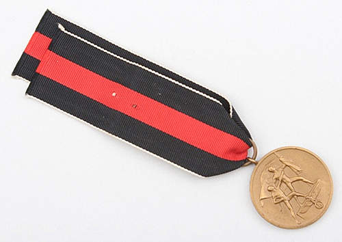 Click image for larger version.  Name:Sudetenland Medal 1.jpg Views:67 Size:119.9 KB ID:372117