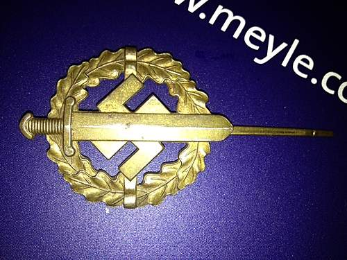 Bronzes SA-Sportabzeichen - SA Sports Badge in Bronze.