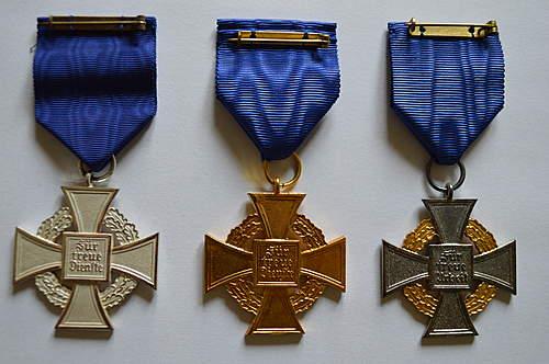 Treue Dienst Ehrenzeichen - 25, 40, 50 Jahre