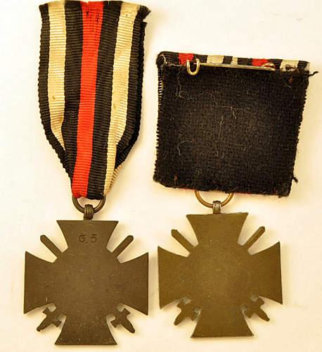 Ehrenkreuz fur Frontkampfer