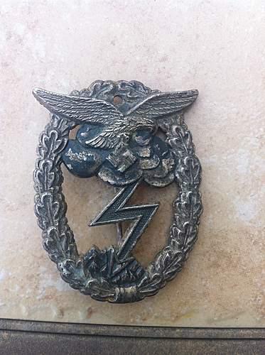 Luftwaffe Erdkampfabzeichen.