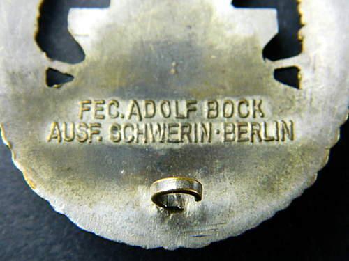 Schwerin Flottenkriegsabzeichen