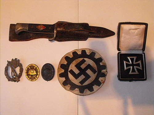 ww2 badges from 2nd hand shop inc youth dagger