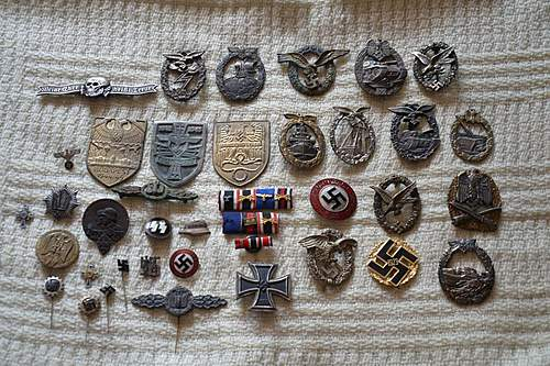 fake or real lot of badges.