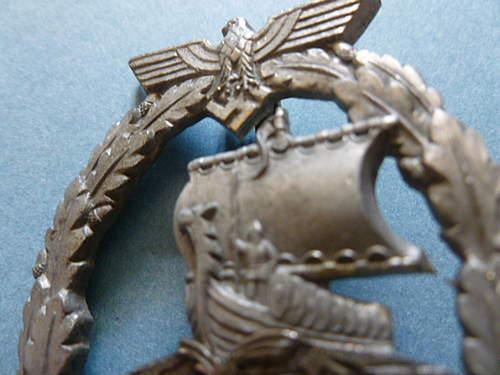 Pics of my Hilfskreuzer Kriegsabzeichen