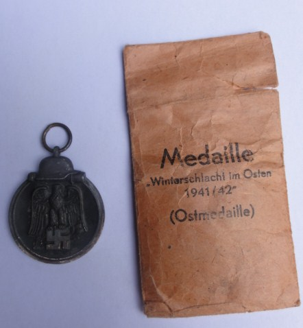 Ostfront medal with issue package minus ribbon
