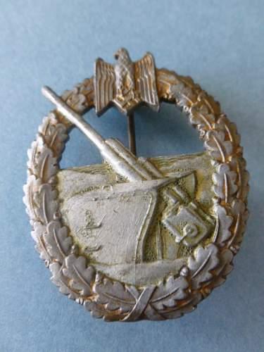 Pics of my Kriegsabzeichen der Marine Artillerie.