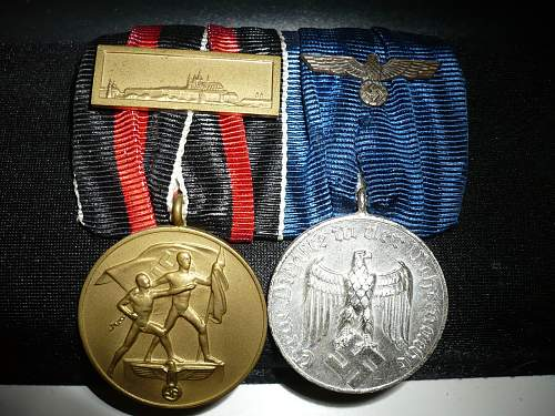 Being offered this medal bar