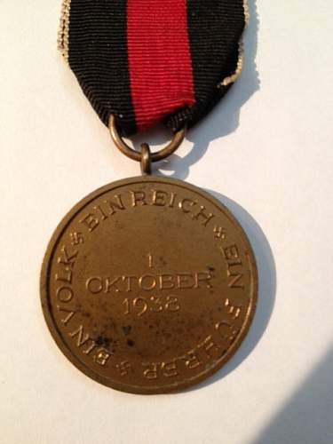 Medaille zur Erinnerung an den 1. Oktober 1938 - Commemorative Medal october 1st 1938.