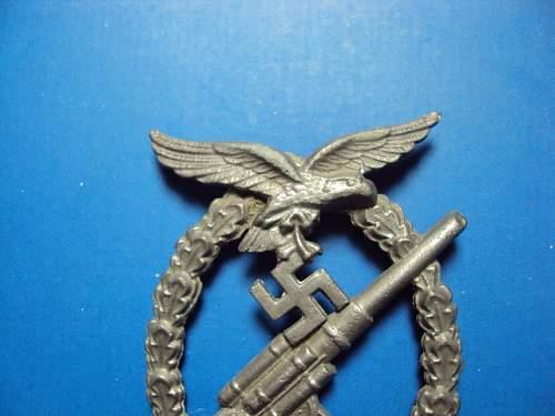 Flakkampfabzeichen der Luftwaffe - Luftwaffe Flak Badge