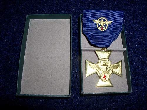 help on cased 25 yrs polizei award