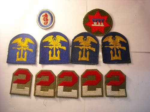 Click image for larger version.  Name:12 ww2 patches.jpg Views:155 Size:234.4 KB ID:41269