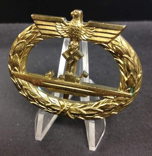 U-Boots Kriegsabzeichen.