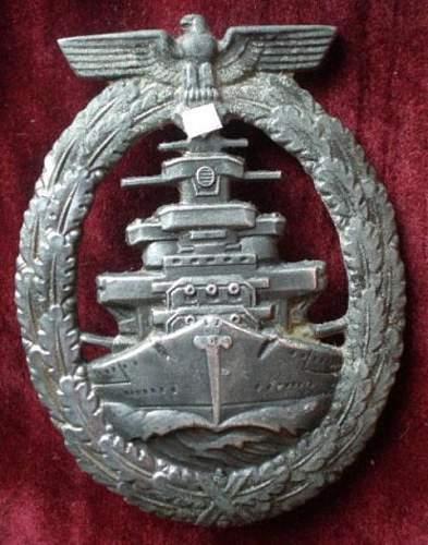 Flotten-Kriegsabzeichen - R.S