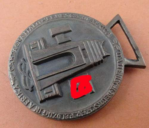 DAK AFRIKA Deutsch-Italienische medal