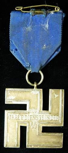 SS-Dienstauszeichnung 2.Stufe (12 Jahre).