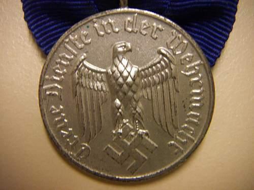 New addition, Dienstauszeichnung der Wehrmacht 4.Klasse, 4 Jahre
