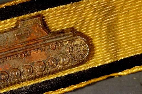 Panzervernichtungsabzeichen in Gold