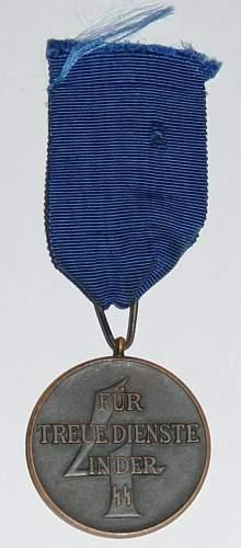 SS-Dienstauszeichnung 4.Stufe (4 Jahre) / SS Four Year Service medal